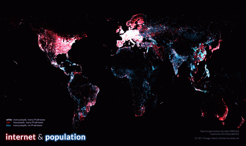 Visualization the global digital divide mapiful gumiabroncs Choice Image