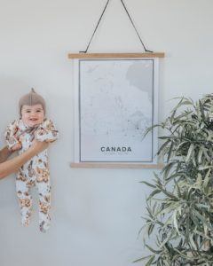 Modern map poster of Canada