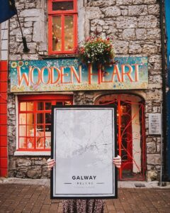 White map poster of Galway, Ireland