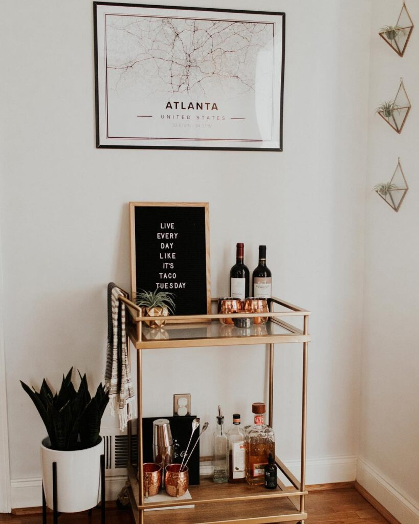 Bar Cart Styling 101 5 Steps To Style Yours Mapiful
