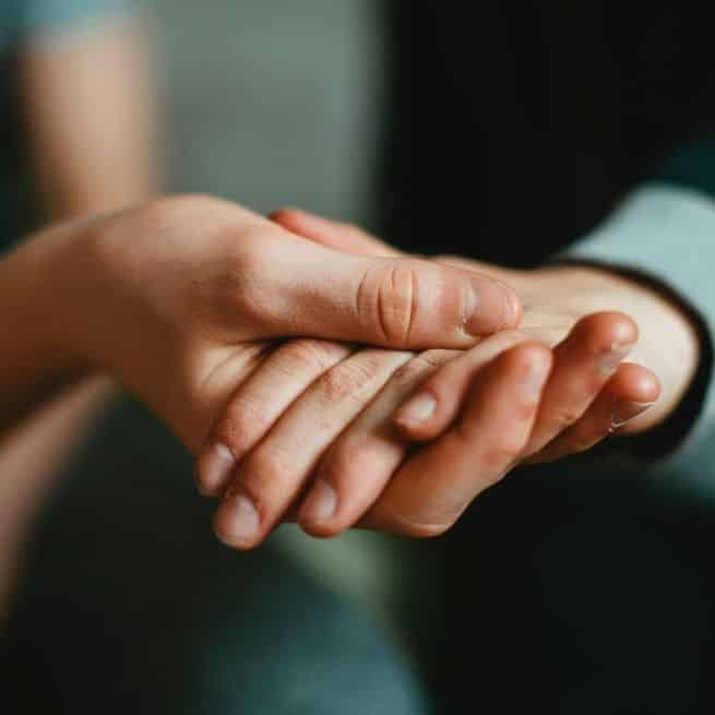 holding hands, give back to the community