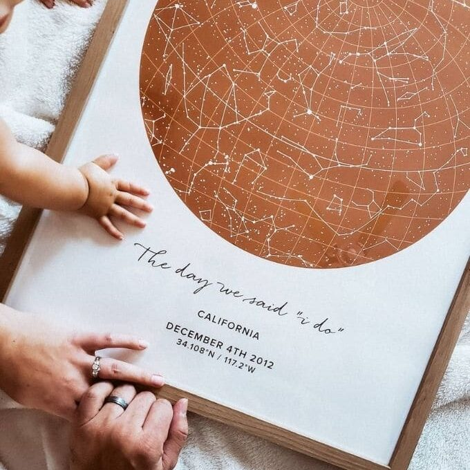 customizable star map poster