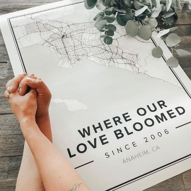 Custom Classic Mapiful poster in the style Modern - valentines day ideas for couples