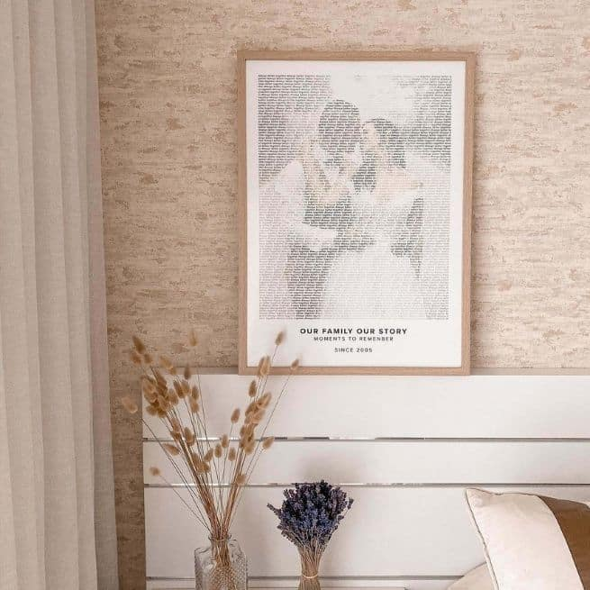 Custom Text Art Mapiful poster in the style Modern - valentines day ideas for couples