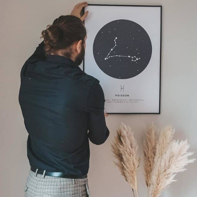 personalized zodiac poster of pisces