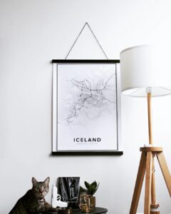 Modern map poster of Iceland