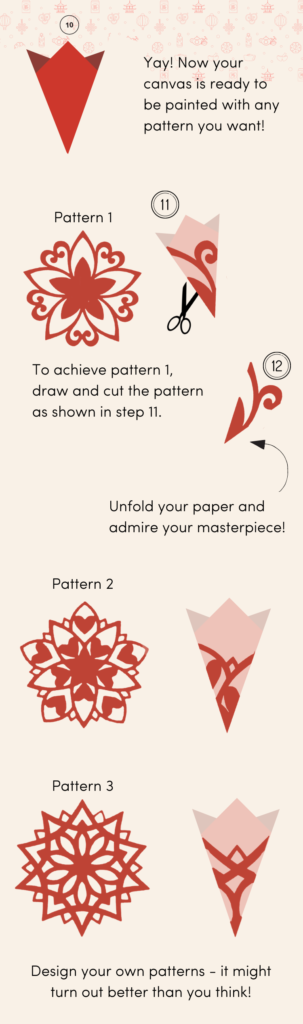 Chinese paper cutting tutorial and templates by Mapiful