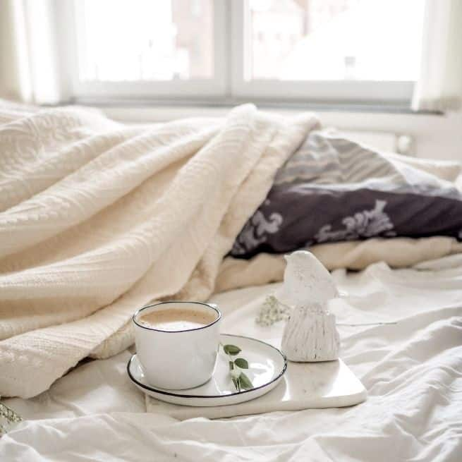 Declutter Your Mind Bed coffee morning
