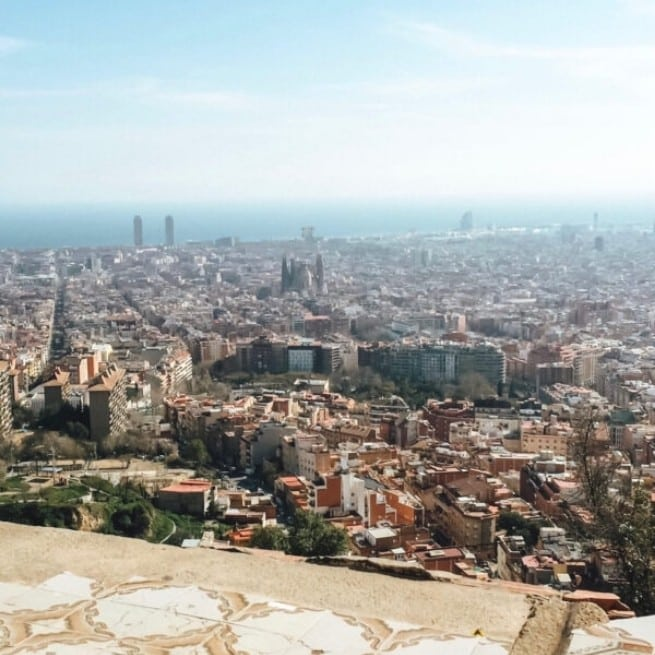 Barcelona Staycation enjoy the view