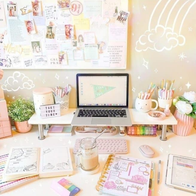 Workspace inspiration the girly geek