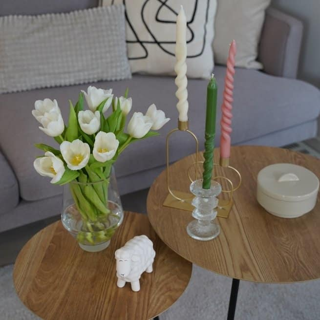 How to make twisted candles table flower