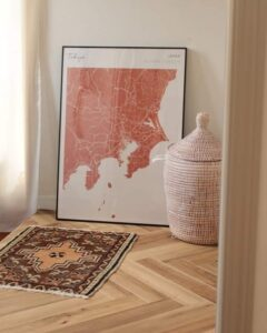 Terracotta map poster of Tokyo, Japan