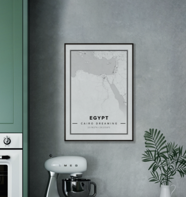 Map poster of Egypt