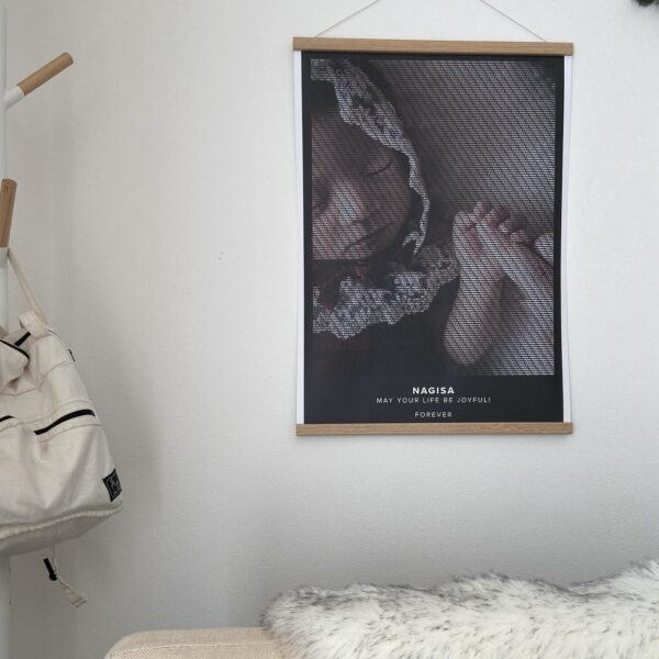 Text Art poster of a baby