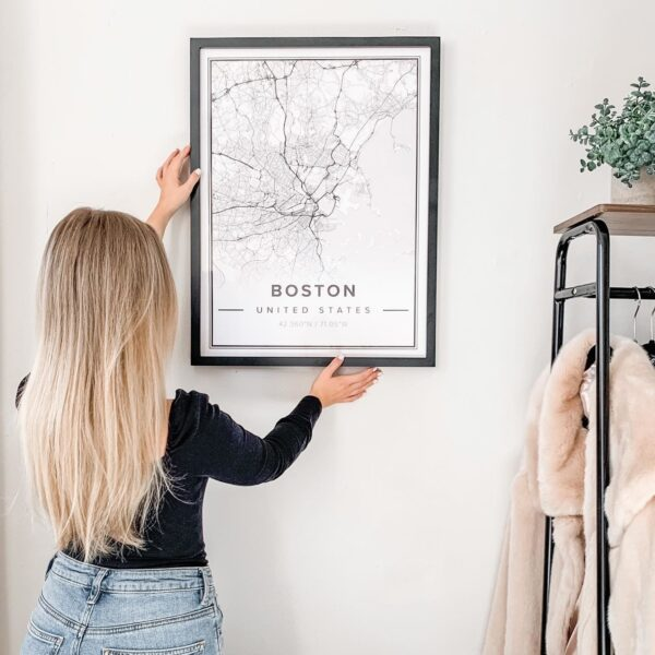 Modern map poster of Boston, United States