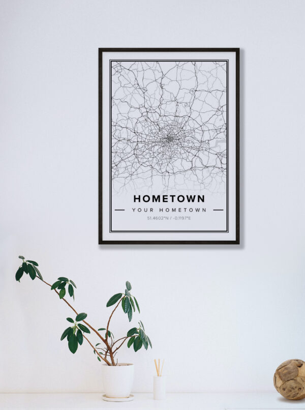 modern country map Hometown
