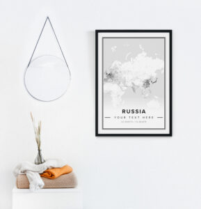 white country map Russia