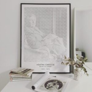 text art poster of Agatha Christie