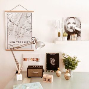white map poster of New York City