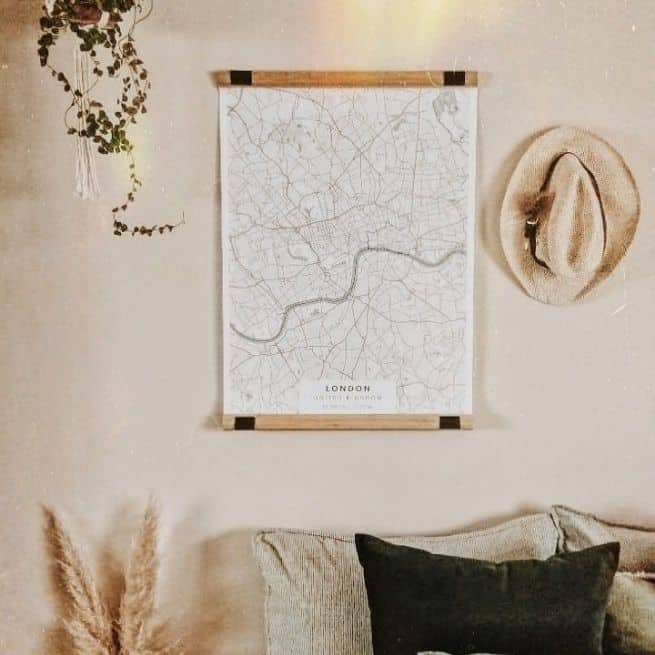 nautical map poster of London