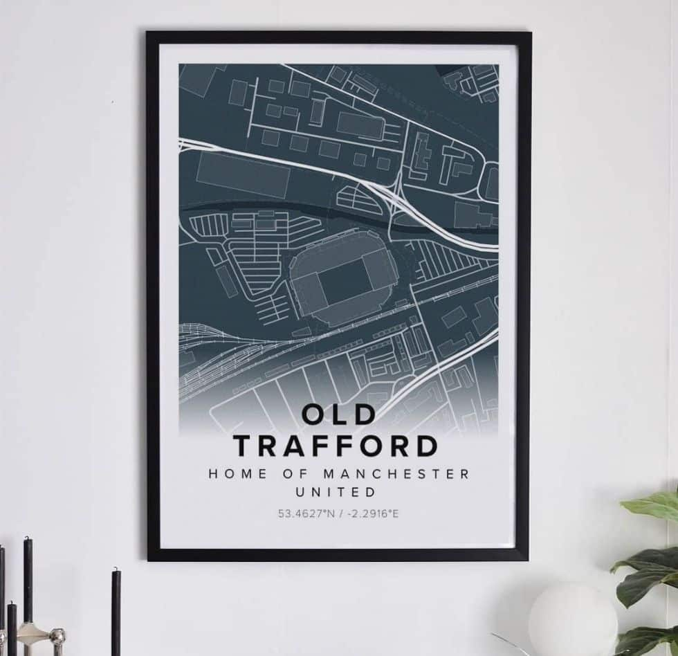 football map poster of old trafford